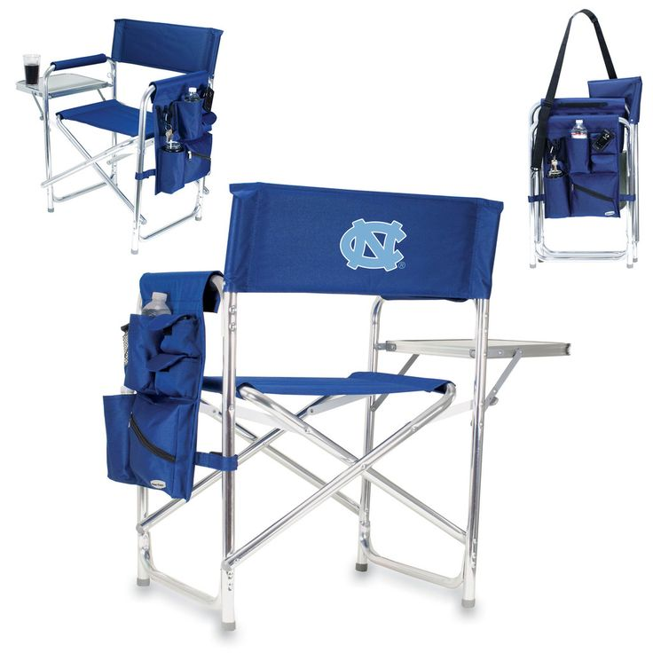 Personalized Imprinted Sports Director Chair With Side Table And Pocket Picnic Time Pt 809