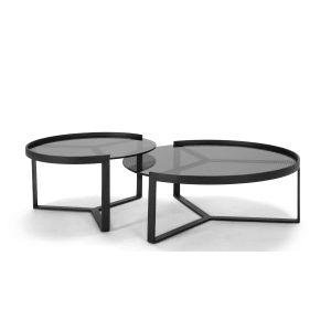 Aula 2er-Set Beistelltische, Schwarz und Grau ► Neues Design für dein Zuhause! Entdecke jetzt Tische von klein bis groß bei MADE.
