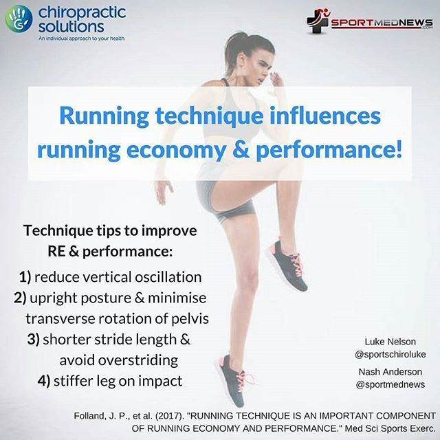 Running technique influences running economy and performance. Graphic by @chiro_solutions and I.  #running #runninginjuries #runninggait #enhancerunning #runeasy #runfast  Running technique influences running economy & performance!! 🏃 In this recent study by Folland et al, they examined 97 runners (including 29 elite runners + 68 recreational runners) for running kinematic variables that correlated with higher running economy and faster performance.  Their findings included: Those factors…