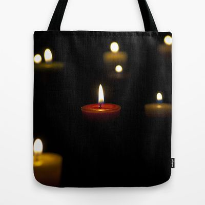Dark candles Tote Bag by Oscar Tello Muñoz - $22.00
