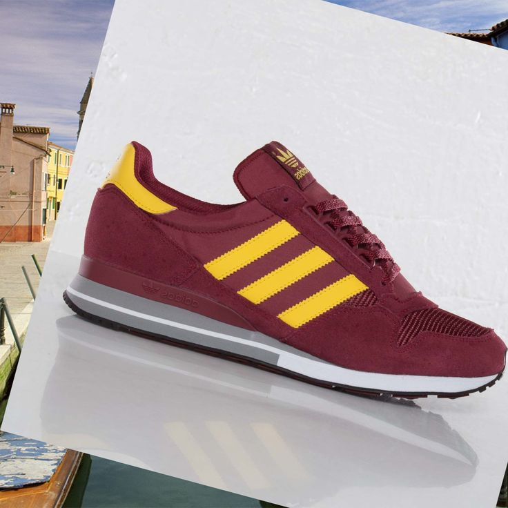 finest selection 0e410 07739 ... mens sportswear adidas zx 500 wine red yellow hot sale hot price
