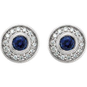 Chatham Sapphire & Diamond Earrings to celebrate September Birthdays! Click through for product details OR to locate a jeweler near you.