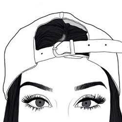 desenhos tumblr preto branco meninas - Pesquisa Google