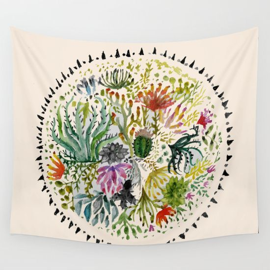 Buy Succulents Mandala by Hannah Margaret Illustrations as a high quality Wall Tapestry. Worldwide shipping available at Society6.com. Just one of…