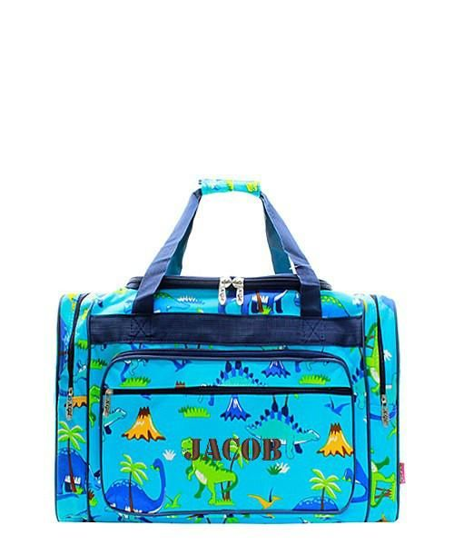Personalized Dinosaur 17 Kids Duffle Bag
