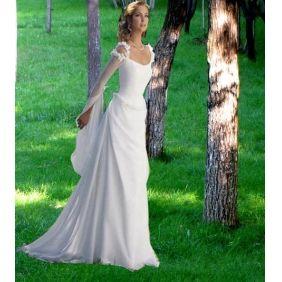 chiffon plus size wedding dresses with sleeves
