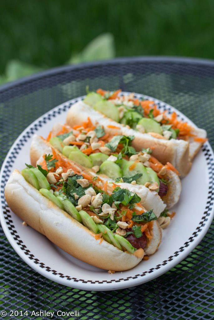 Banh Mi on a Bun Hot Dog Topper | Holiday Recipes | Pinterest