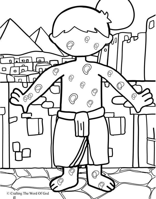 The Plague Of Boils- Coloring Page