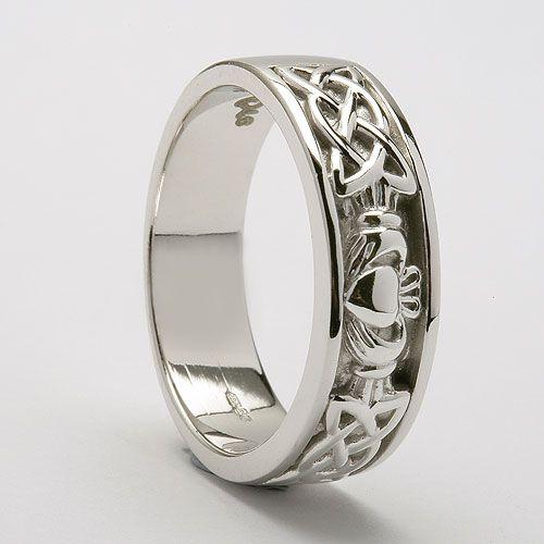 Intertwined Wedding Bands | Fedelma Claddagh Wedding Ring (C-759) - Claddagh Wedding Rings