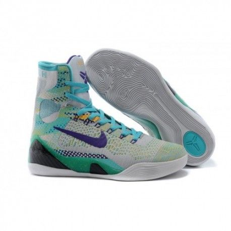 The cheap Authentic Kobe 9 Elite \u0027Hero\u0027 Wolf Grey/Court Purple-Sport  Turquoise Shoes factory store are awesome pair of shoes but it seems the  super high top ...