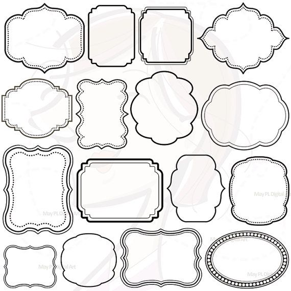 Digital Scrapbooking Frames Clipart Clip Art by MayPLDigitalArt, $5.70
