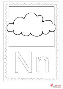 Litera N -Planșă de colorat