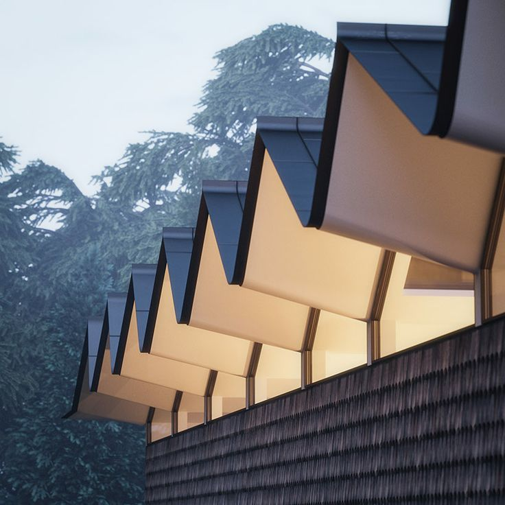 Escuyer: Hendeeborg House. Sawtooth Roof Line (via (2) Pinterest) |  ARCHITECTURE | Pinterest | Architecture, Facades And Arch