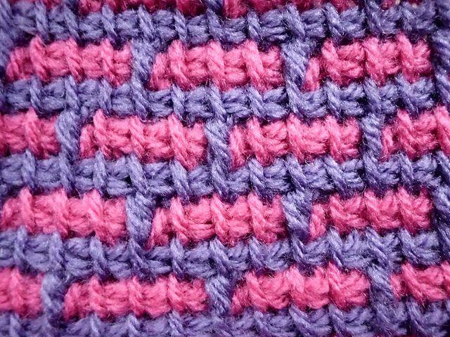 Ravelry: Bricks in Tunisian Simple Stitch pattern by Lydia Busek