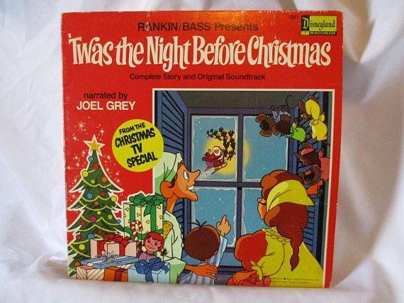 Disneyland Records Twas the Night Before Christmas Record LP