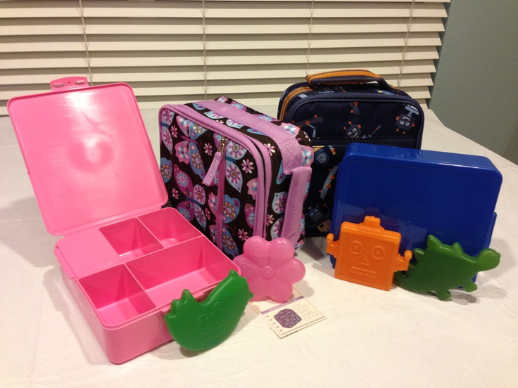 Pottery Barn Kids Classic Lunch Bags Fun Ice Packs And