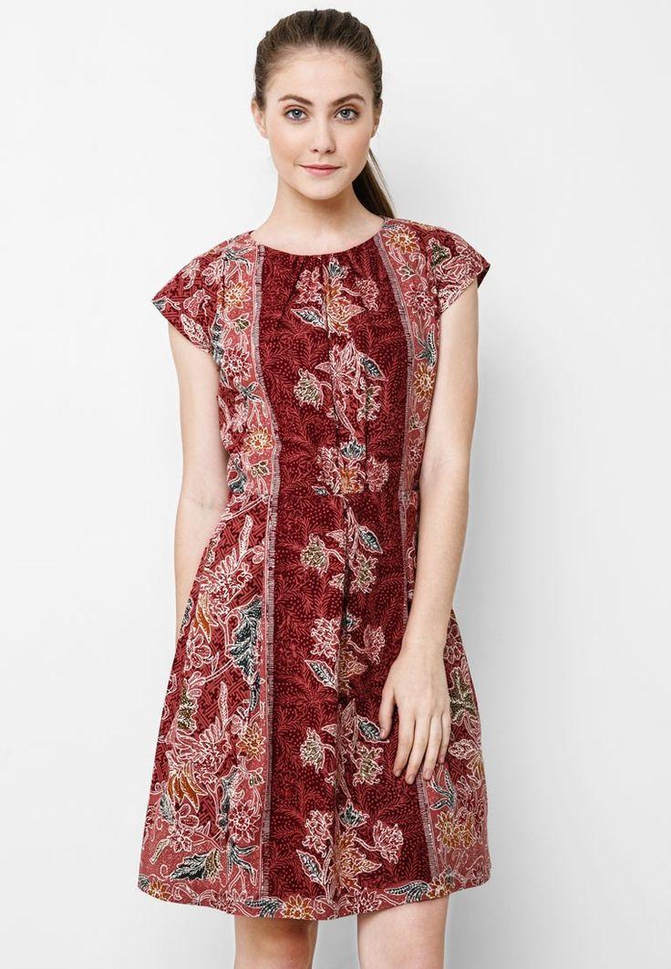 Batik Encim Dress Pink Batik Dress Dress T Batik Dress