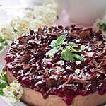 Sernik czekoladowy z ksylitolem i żurawiną