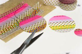 Dekoherz: Bine Brändles bunte Welt: Weihnachtskarten mit Masking-Tape