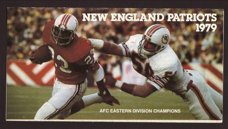1979 New England Patriots Ticket Brochure/Schedule #TicketBrochureSchedule