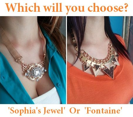 WIN one of these Beautiful Necklaces for Christmas (Valued Over $55) For you chance to WIN simply: Click on link http://eepurl.com/7YUi5 for your FREE ENTRY, 'Like' & Comment 'Fontaine' or 'Sophia's Jewel' on this Post. (Australian Residents Only) Enjoy!