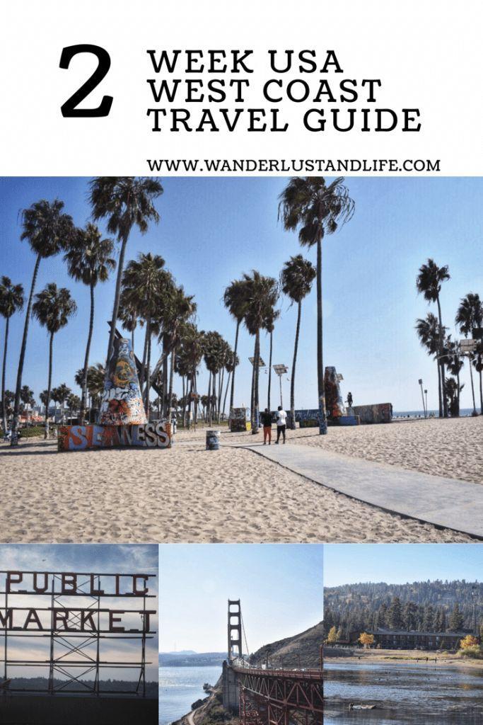 A 2 week USA West Coast Itinerary with map – #Coas…