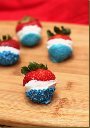 Great for Memorial Day & 4th of July white choc and blue