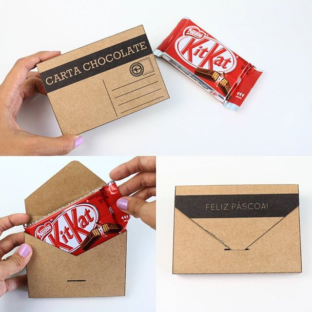 Carta Chocolate para presentear com Kit Kat na Páscoa!