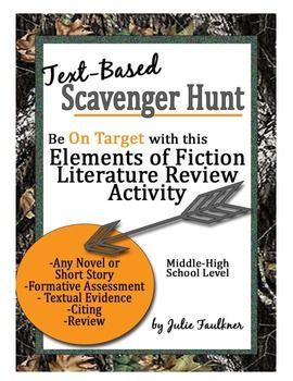 Elements of Fiction Literature Scavenger Hunt {FREEBIE}