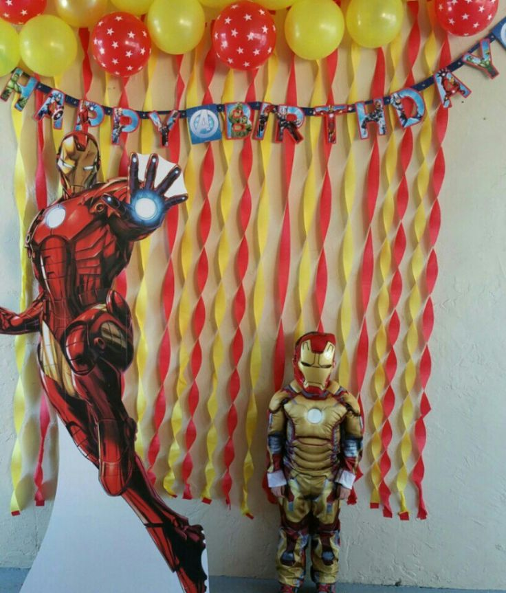 Iron Man BackDrop Party