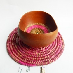 native wooden bowl, chilean handcraft, www.autoctona.cl