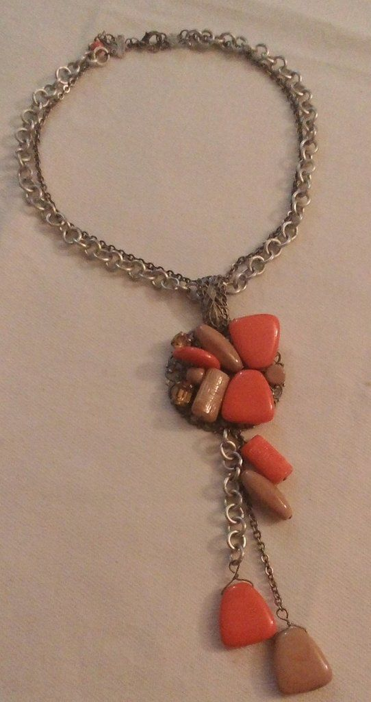 collana girocollo con catena a doppio giro e ciondolo grande con pendenti, by crys_e_cri, 20,00 € su misshobby.com