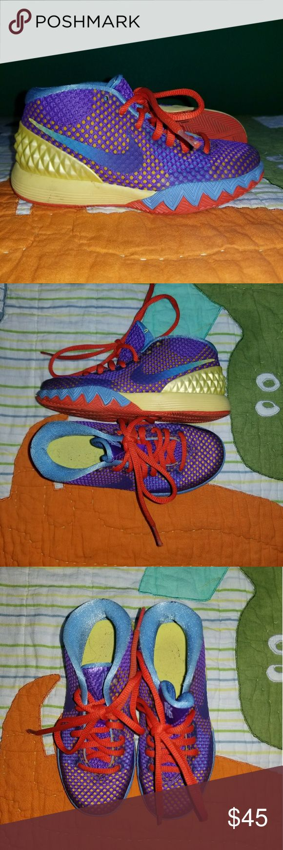 Nike Kyrie Irving 1 Nike basketball shoes. Youth size. Gently worn. Amazingg condition! Nike Shoes Sneakers