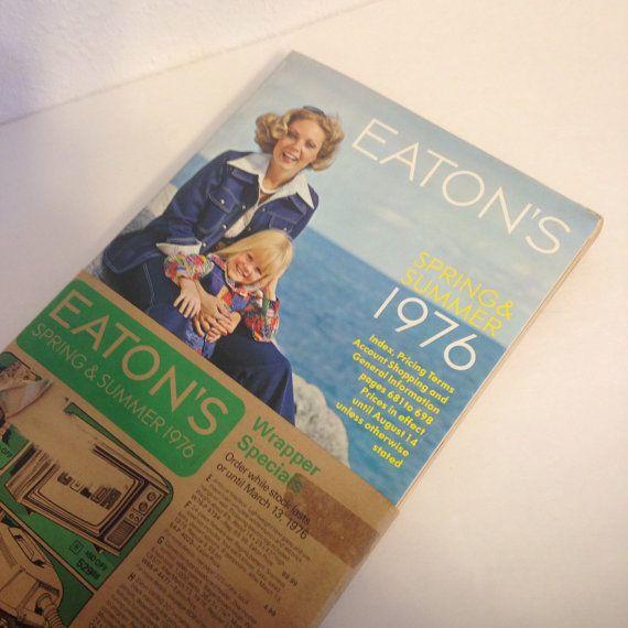 Vintage neuf dans Original Wrapper, Catalogue Vintage, années 1970 catalogue Eaton catalogue, Eaton Canada, maison des années 1970 et de mode