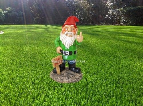 Gnome Sculpture Lawn Decoration Funny Art Design Office Desk Home Yard Character
