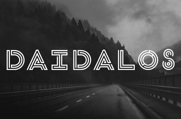 Daidalos Typeface by ATT on @creativemarket