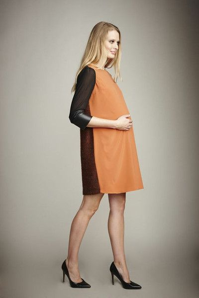 Maternity Fashion: Maternal America Sweater Back Dress www.bumpnaples.com