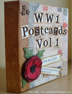 WW1 Postcards mini book (Bo Bunny Misc Me album)
