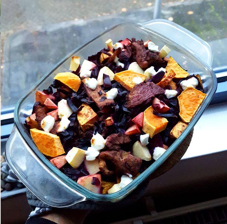 Nieuwsbrief Boerschappen Duo Box | Week 6 - 9 Februari  Ovenschotel met rode kool en zoete aardappel – Gezonde recepten
