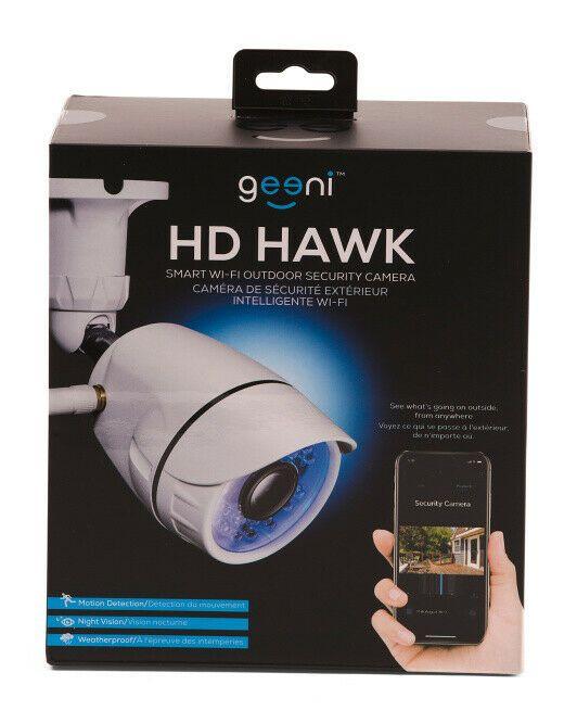 NEW Geeni Hawk Outdoor Smart WiFi Security Camera w/ Night Vision
