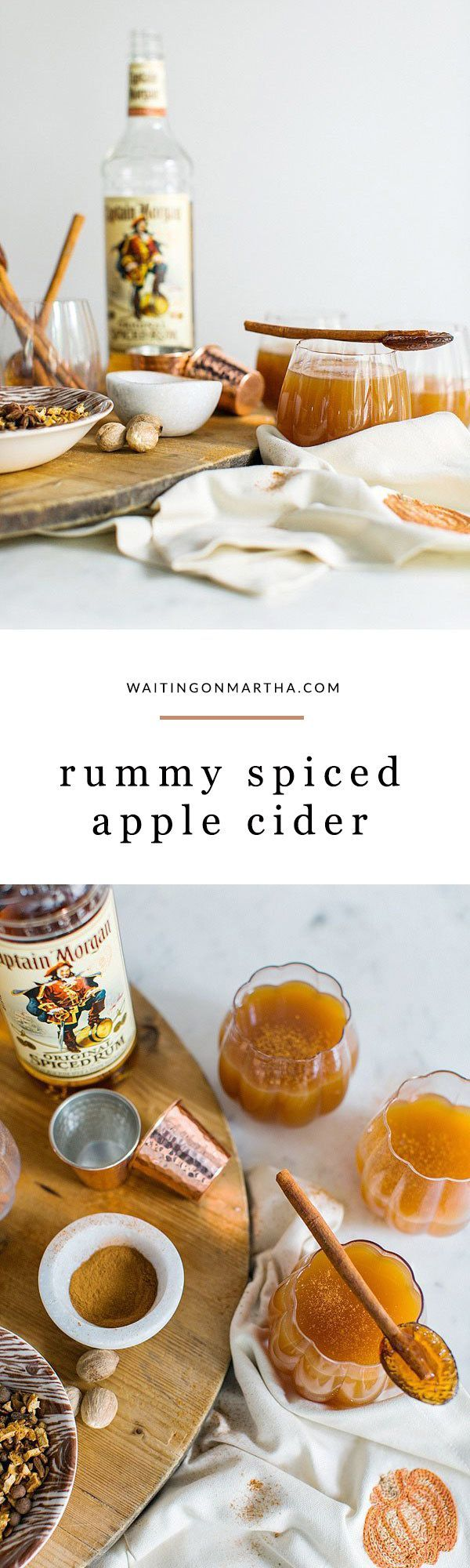 Rum spiced apple cider cocktail recipe by /waitingonmartha/