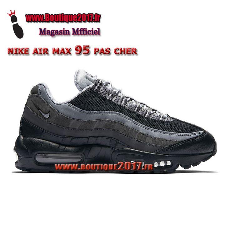Boutique Nike Air Max 95 Essential Chaussures De Nike Pas Cher Pour Homme Noir Gris 749766-014 boutique2017.fr
