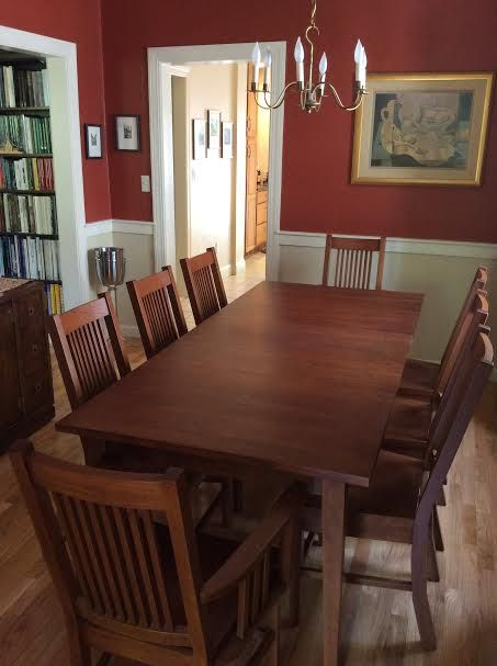 181 best images about craftsman dining room on pinterest for Mission style dining table