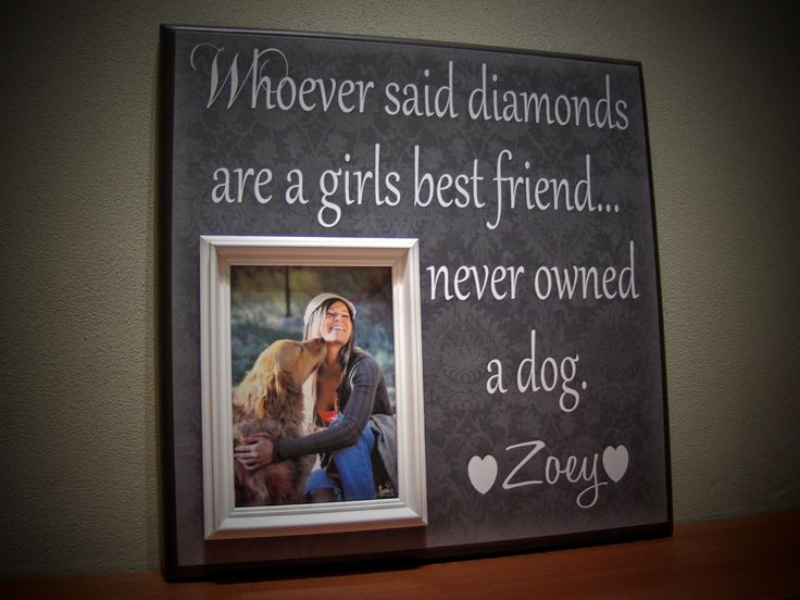 pet picture frame gift whoever said diamonds are a girls best friend never owned a