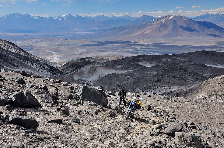 Highest bike ride aboard a Husaberg FE 570 – New Record – 6,361 m / 20,869 ft. Ojos del Salado, Chile