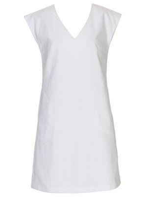 burda style, Schnittmuster - Schlichtes Kleid in A-Linie mit überschnittenen Schultern und Nahttaschen. Nr. 107 B aus 06-2011