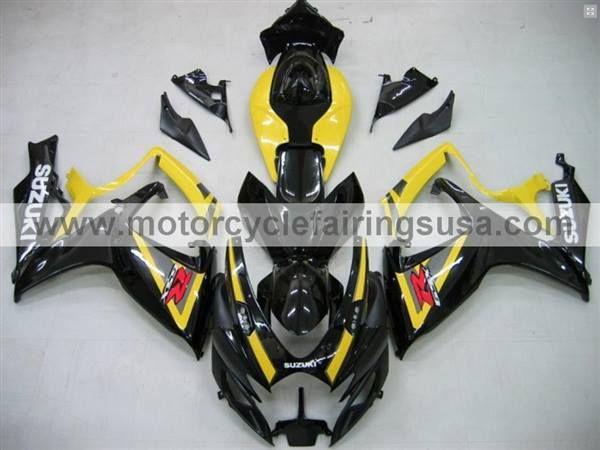 2006 GSXR 600 Fairings, 2007 GSXR 600 Fairings also fits the GSXR 750. Yellow and Black Suzuki Fairings.