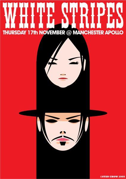 The White Stripes | Manchester Apollo 2005 | Design: Stan Chow (thanks for finding this, Michelle Dyro!)