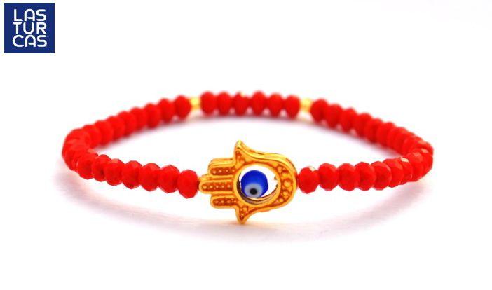 Esta pulsera de nombre Las Turcas, es un diseño de Sofía, elaborada con muranos…