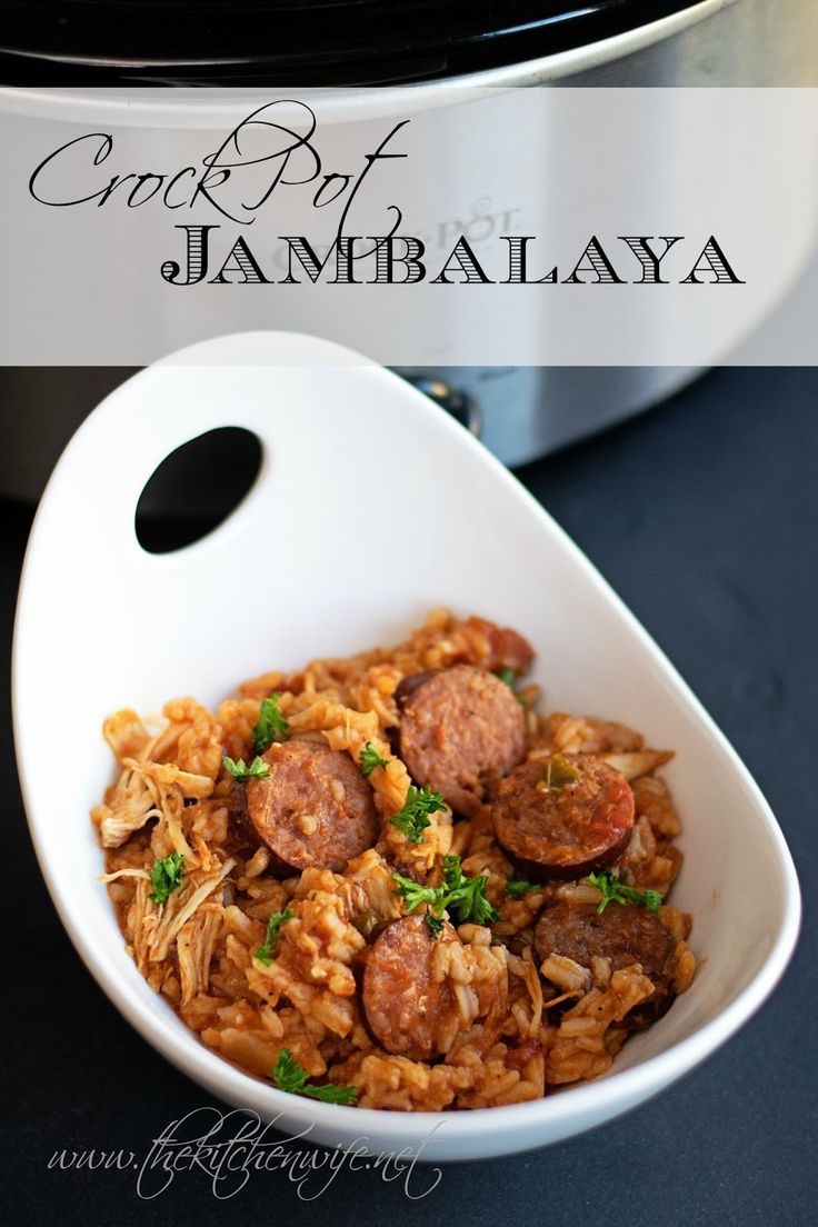 ~The Kitchen Wife~: Crock Pot Jambalaya Recipe. I WOULD leave out the sausage,  SORRY. .